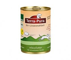 Veganes Nassfutter für Hunde – Terra-Pura Bio-Linsenmahlzeit Bioland